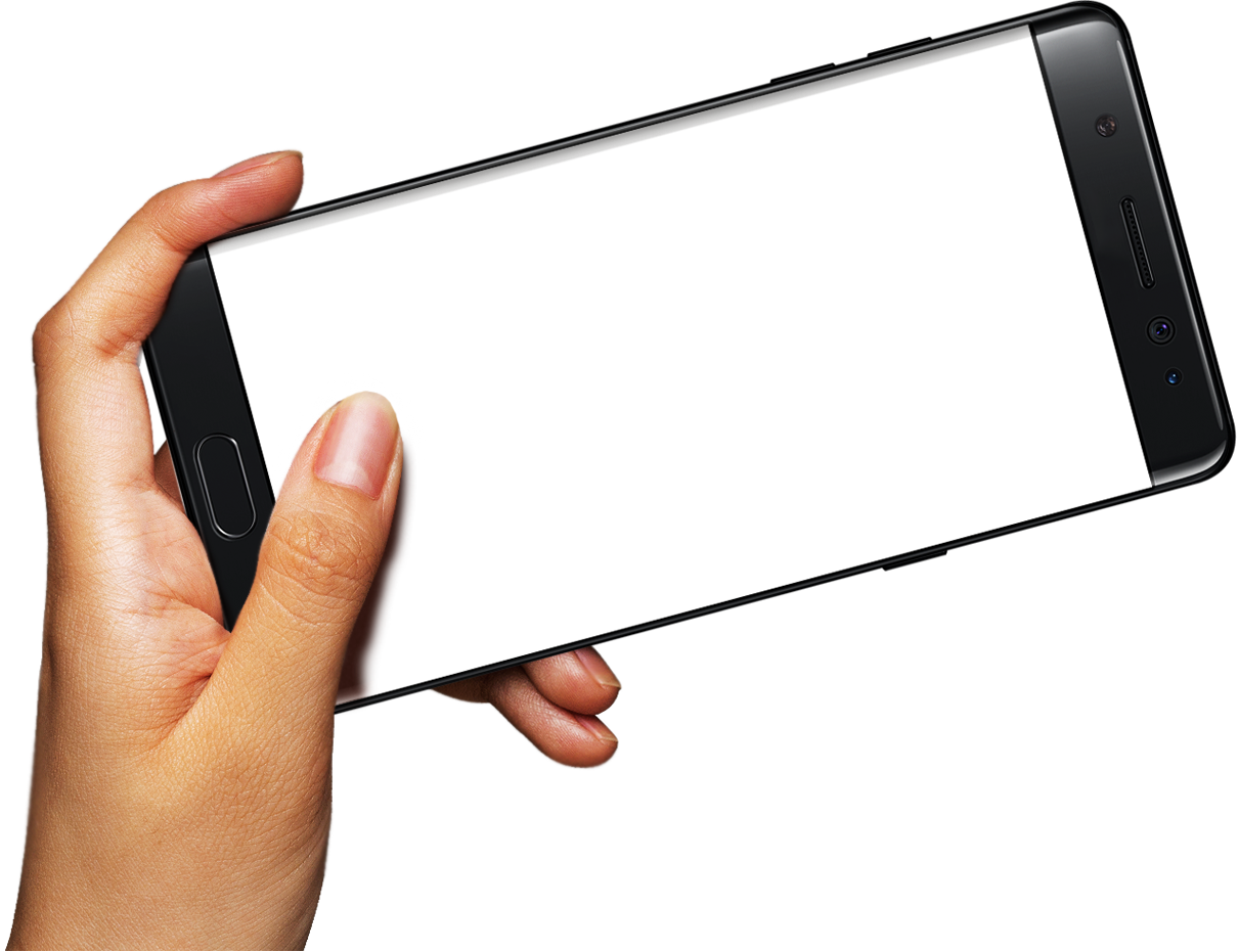 Hand-Held Smartphone Samsung Mobile S7 Note Phone PNG Image