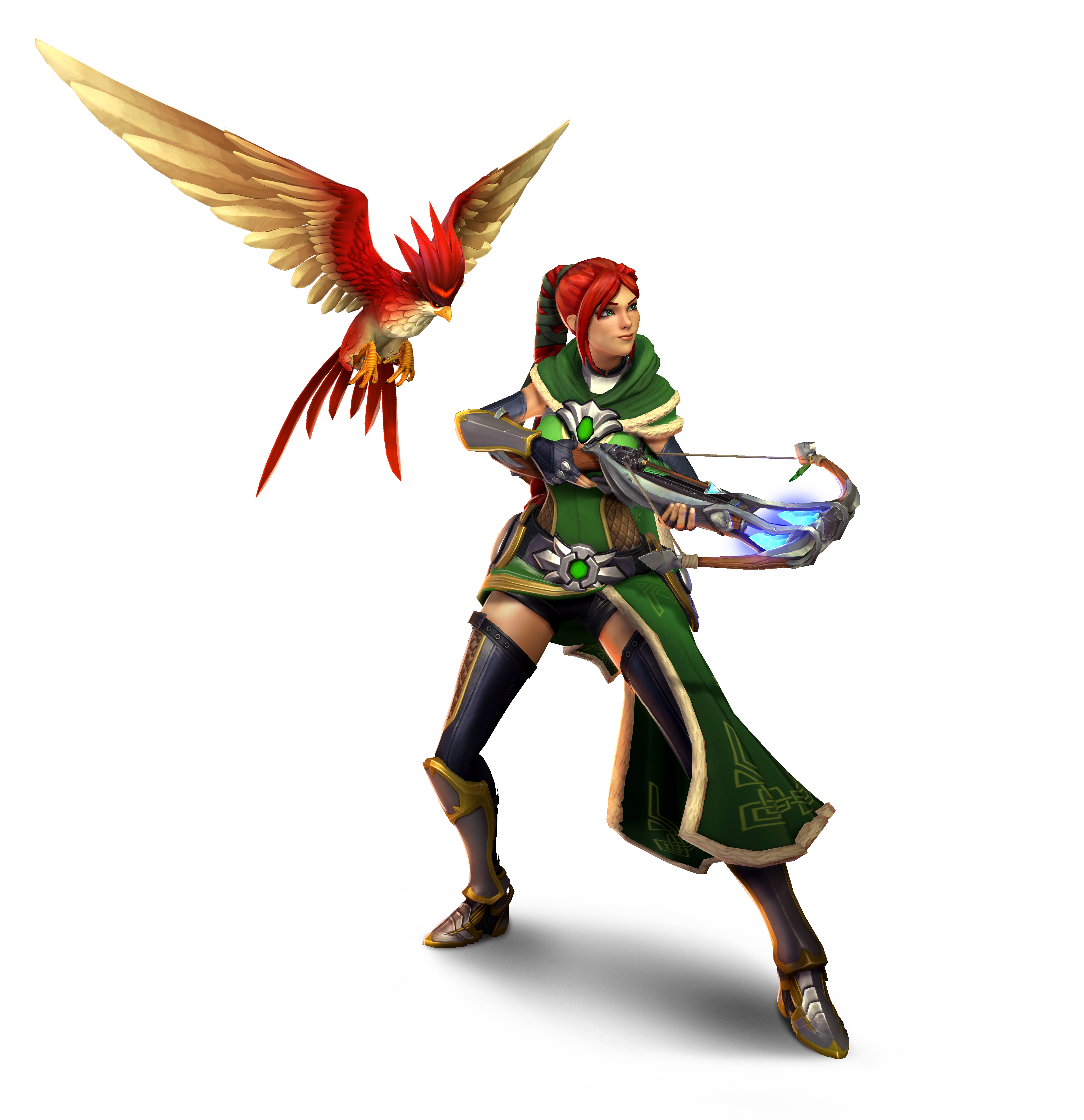 Smite Character Fictional Supernatural Ainsworth Paladins Cassie PNG Image