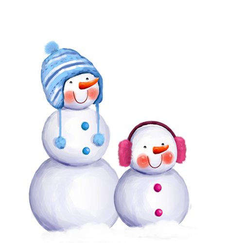 Snowman Daxue Winter Christmas Free Frame PNG Image