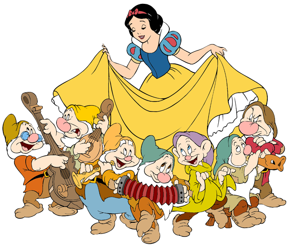 Snow White And The Seven Dwarfs Transparent PNG Image