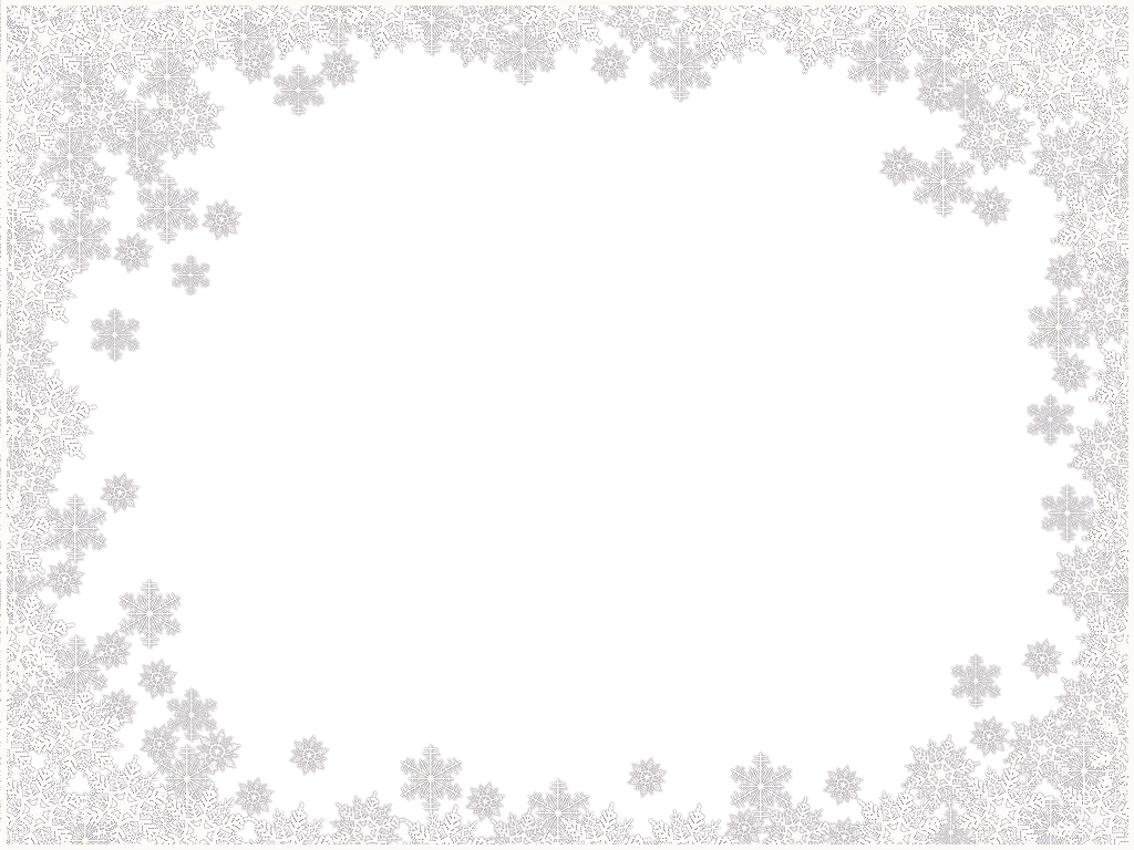 Snowflakes Border Frame Png Image PNG Image