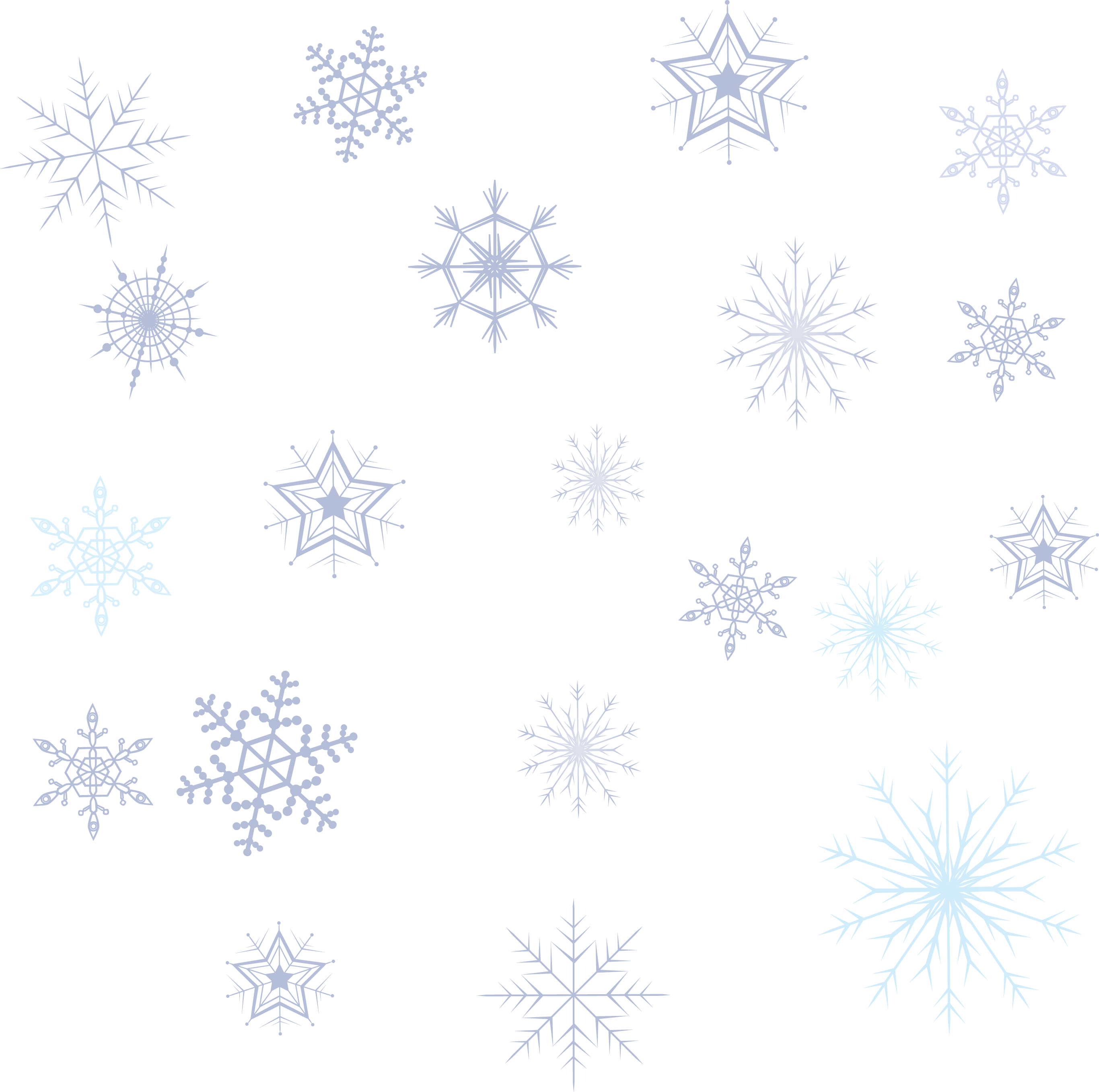 Pattern Snowflake Collection Variety Free Download PNG HD PNG Image
