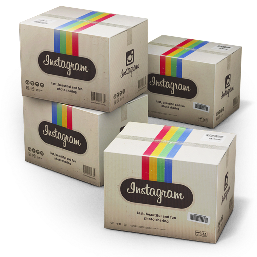 Box And Instagram Labeling Packaging Shipping Carton PNG Image