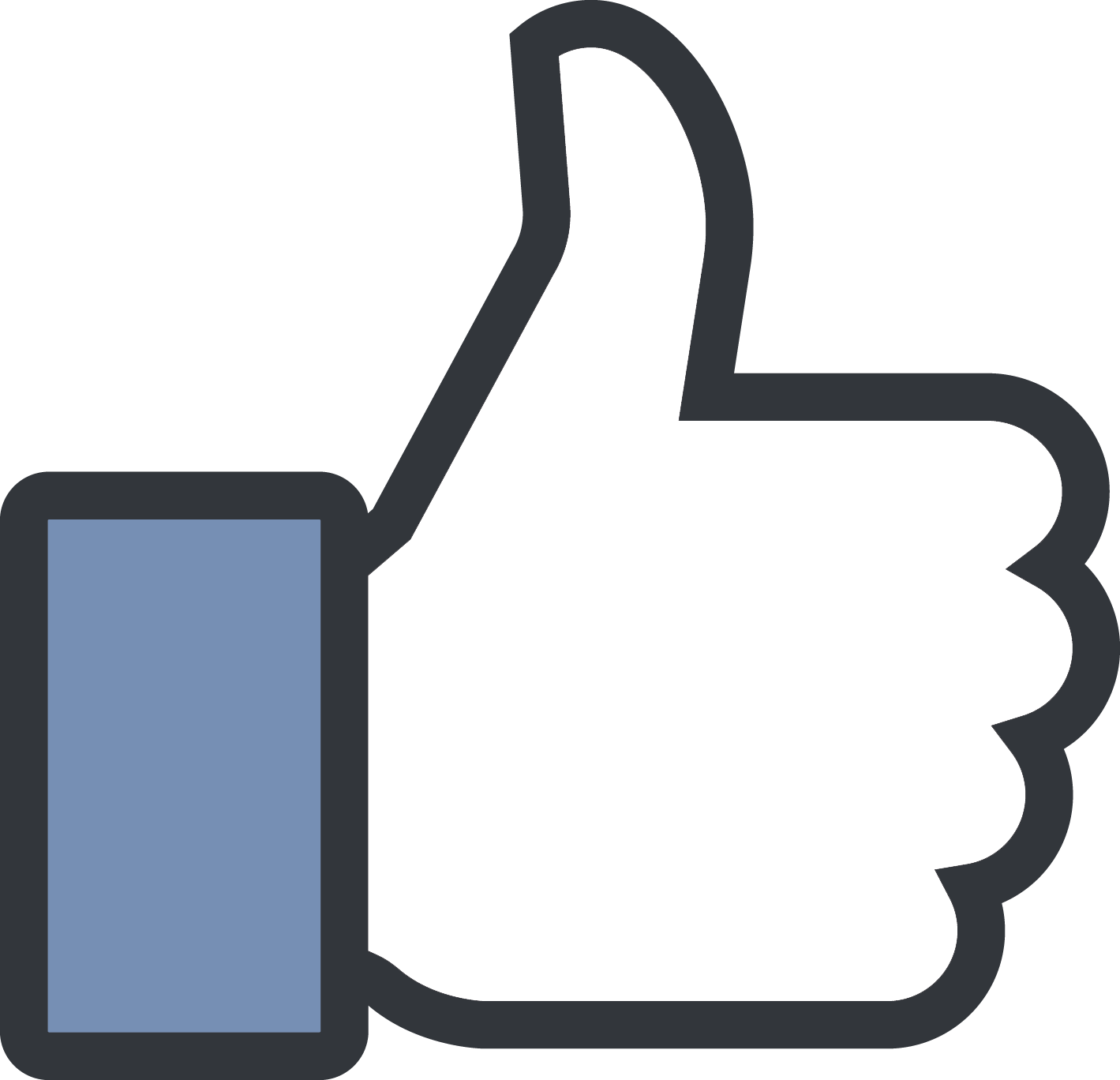 City Thumb Media Signal Facebook Social Button PNG Image