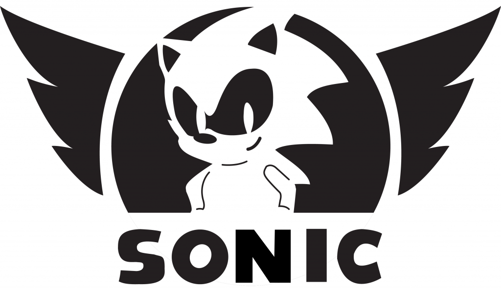 Download Sonic Stencil Brand Jacko The Hedgehog Wing Hq Png Image Freepngimg