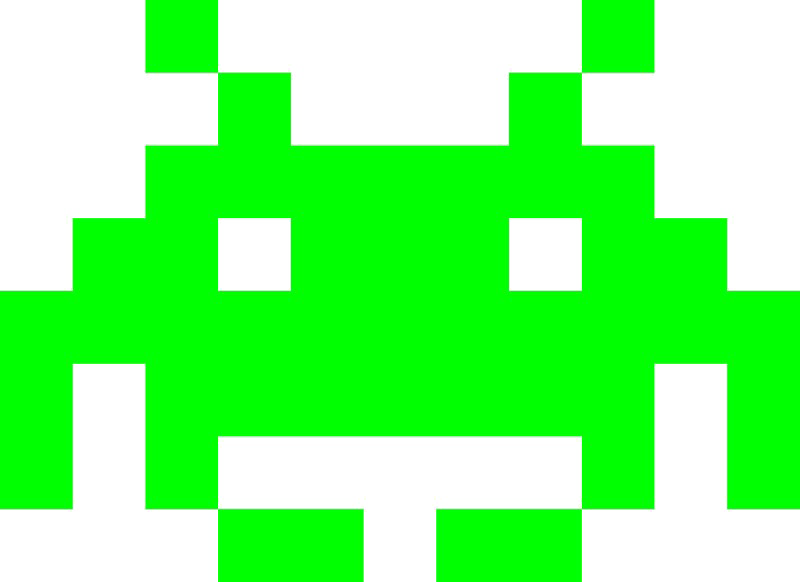 Angle Invaders Extreme Square Space Free Frame PNG Image