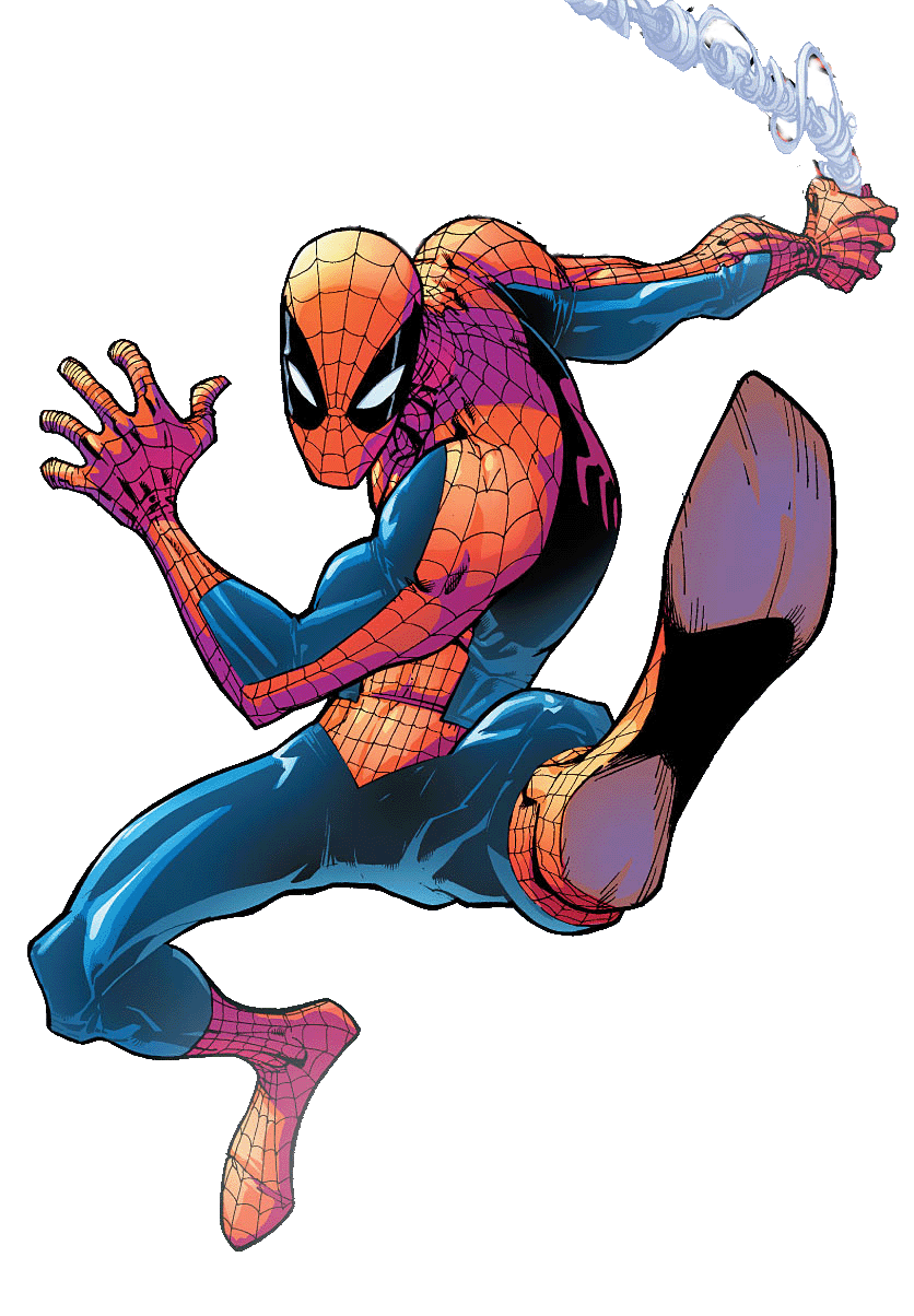 Spiderman Comic Picture PNG Image