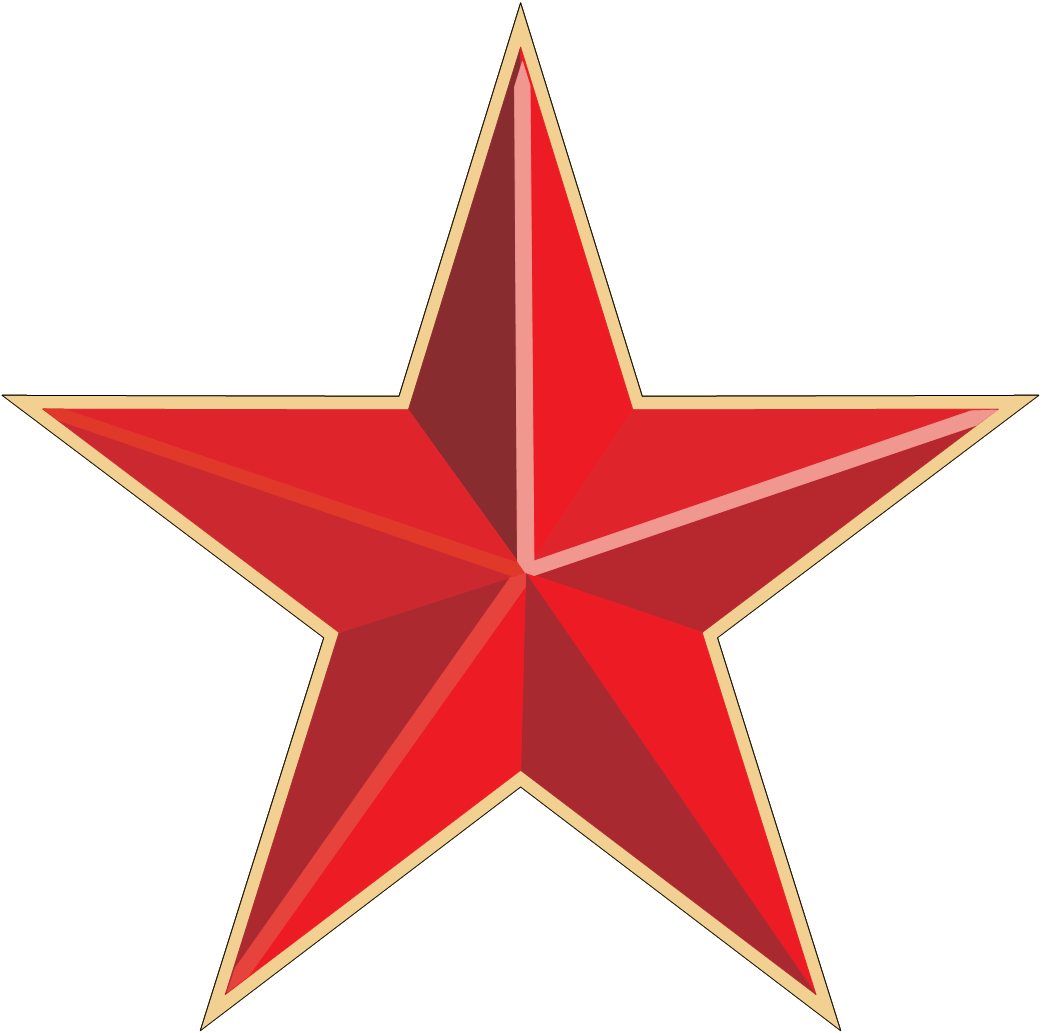 Red Star Png Image PNG Image