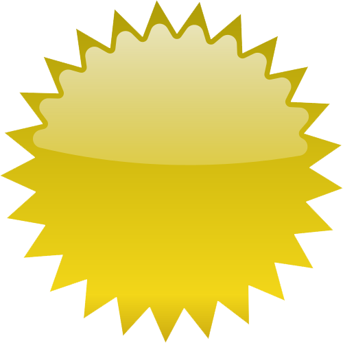 Gold Starburst Transparent PNG Image