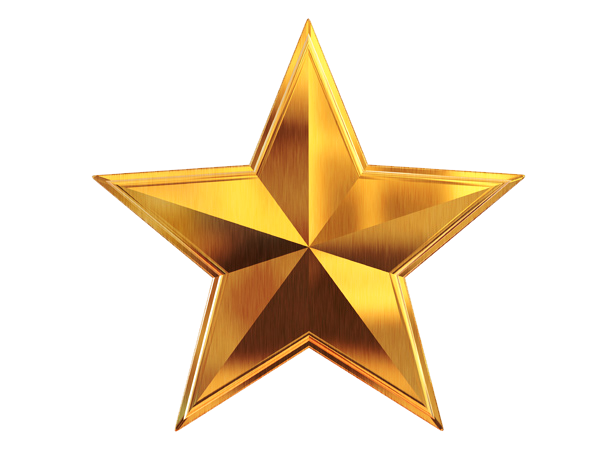 Gold Star Sticker File PNG Image