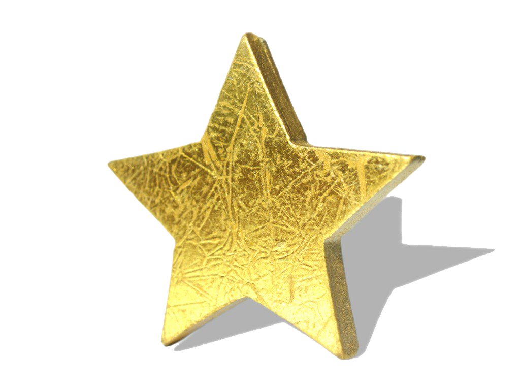 3D Gold Star Hd PNG Image