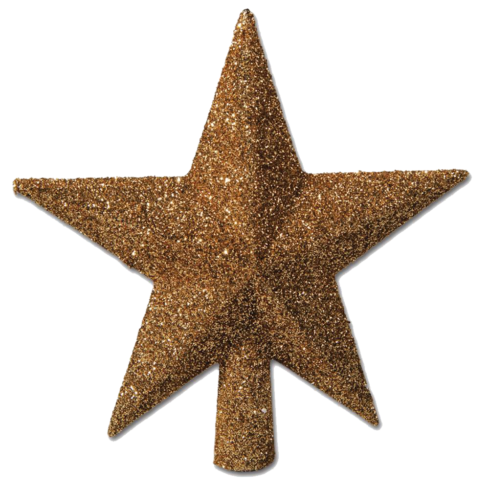 Christmas Gold Star Photos PNG Image