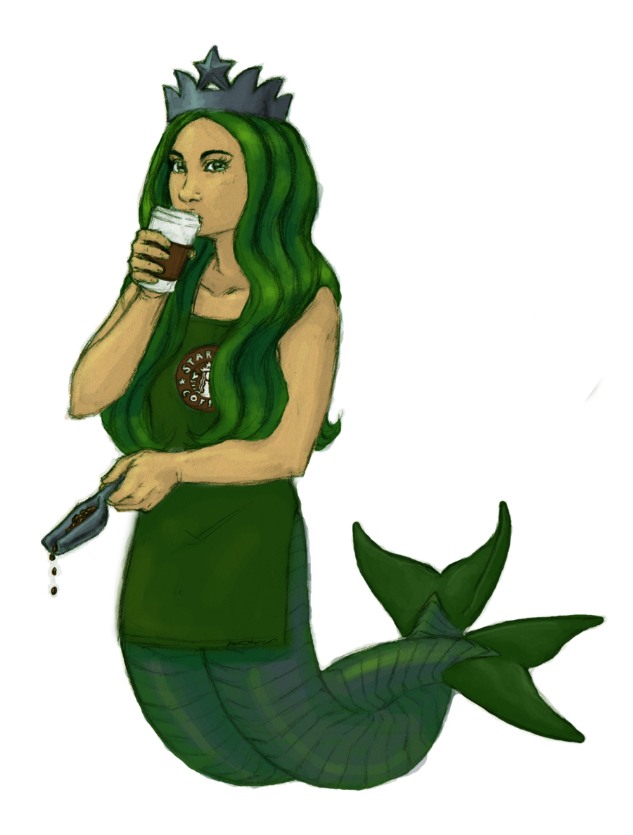 Siren Frappuccino Coffee Starbucks Mermaid Free Download Image PNG Image