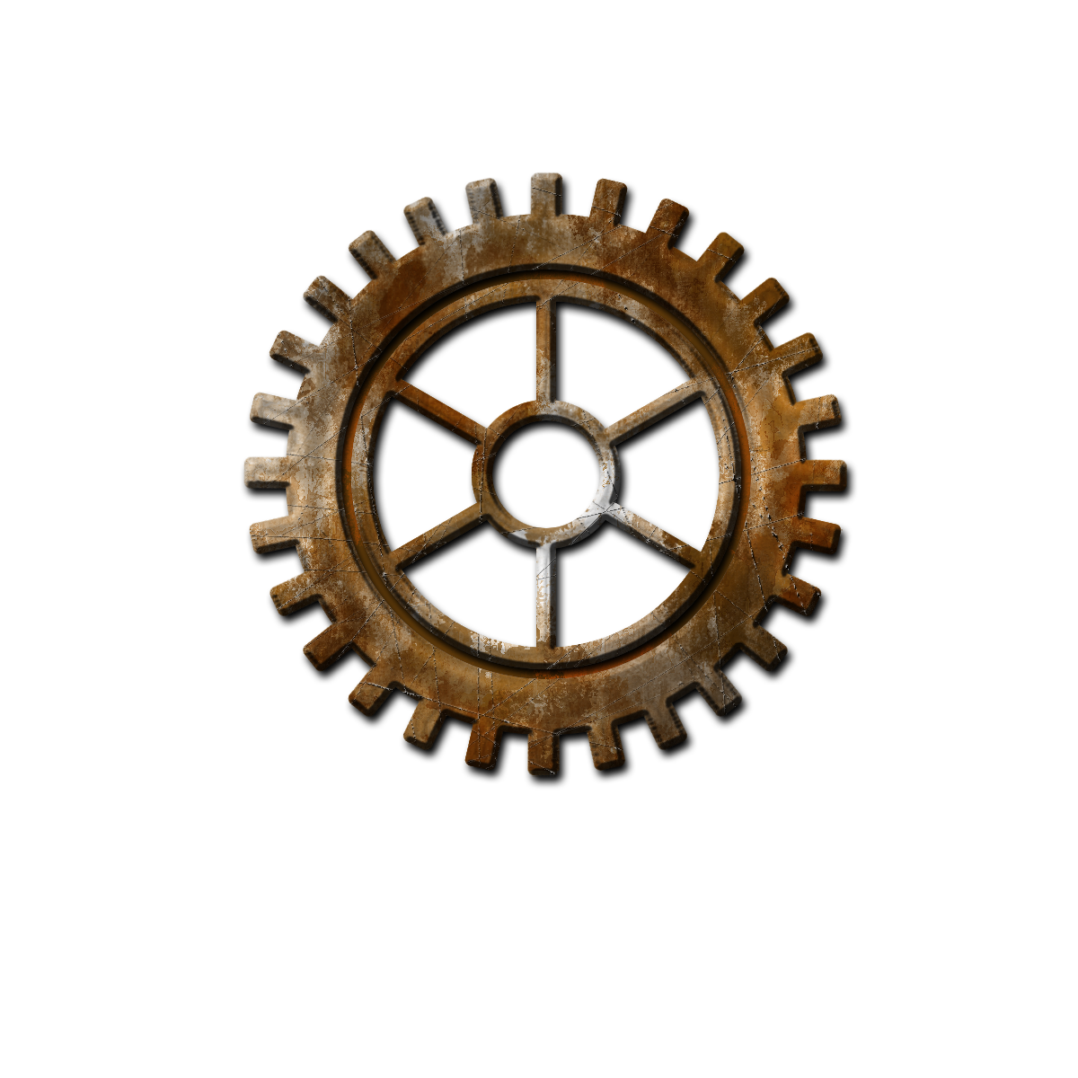 Steampunk Gear Transparent Background PNG Image