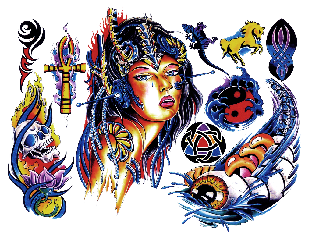 Color Tattoo PNG Image
