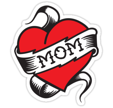I Love Mom Heart Tattoo PNG Image