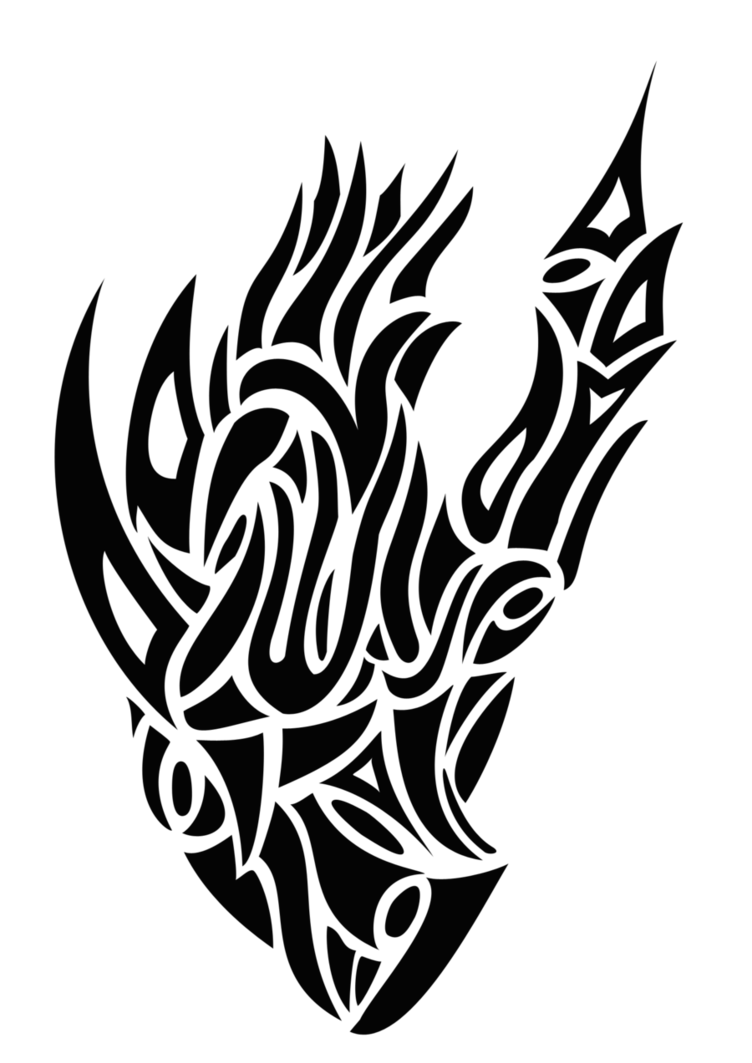 Tribal Heart Tattoo PNG Image
