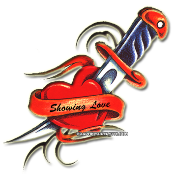 Love Heart Tattoo PNG Image