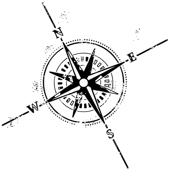 Rose Symbol Tattoo Compass PNG Download Free PNG Image