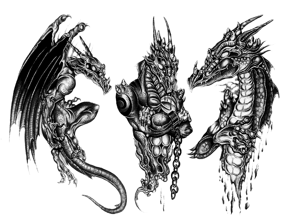 Dragon Tattoo Ink Sleeve Artist Free Download Image PNG Image