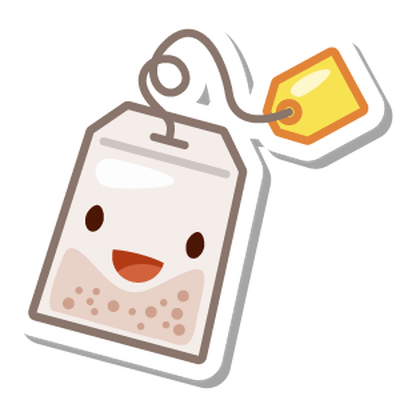 Tea Sticker Bubble Oolong Swarm Download HQ PNG PNG Image
