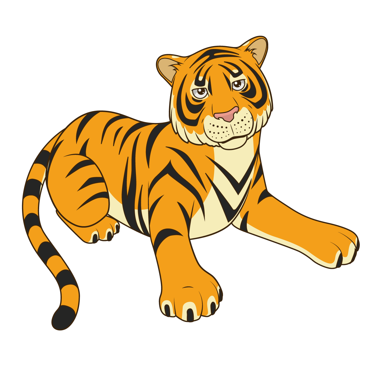 Tiger Black Cartoon Illustration Panther Free Clipart HQ PNG Image