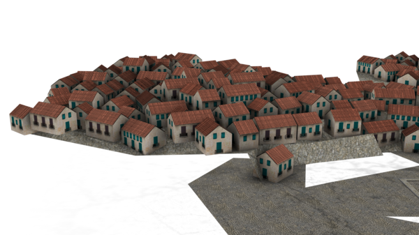 Town Transparent Background PNG Image