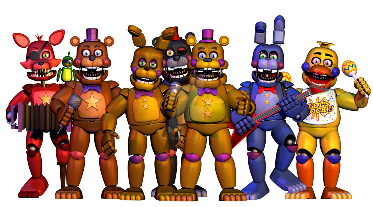 Nights Rockstar Character Fictional Freddy Toy Games PNG Image