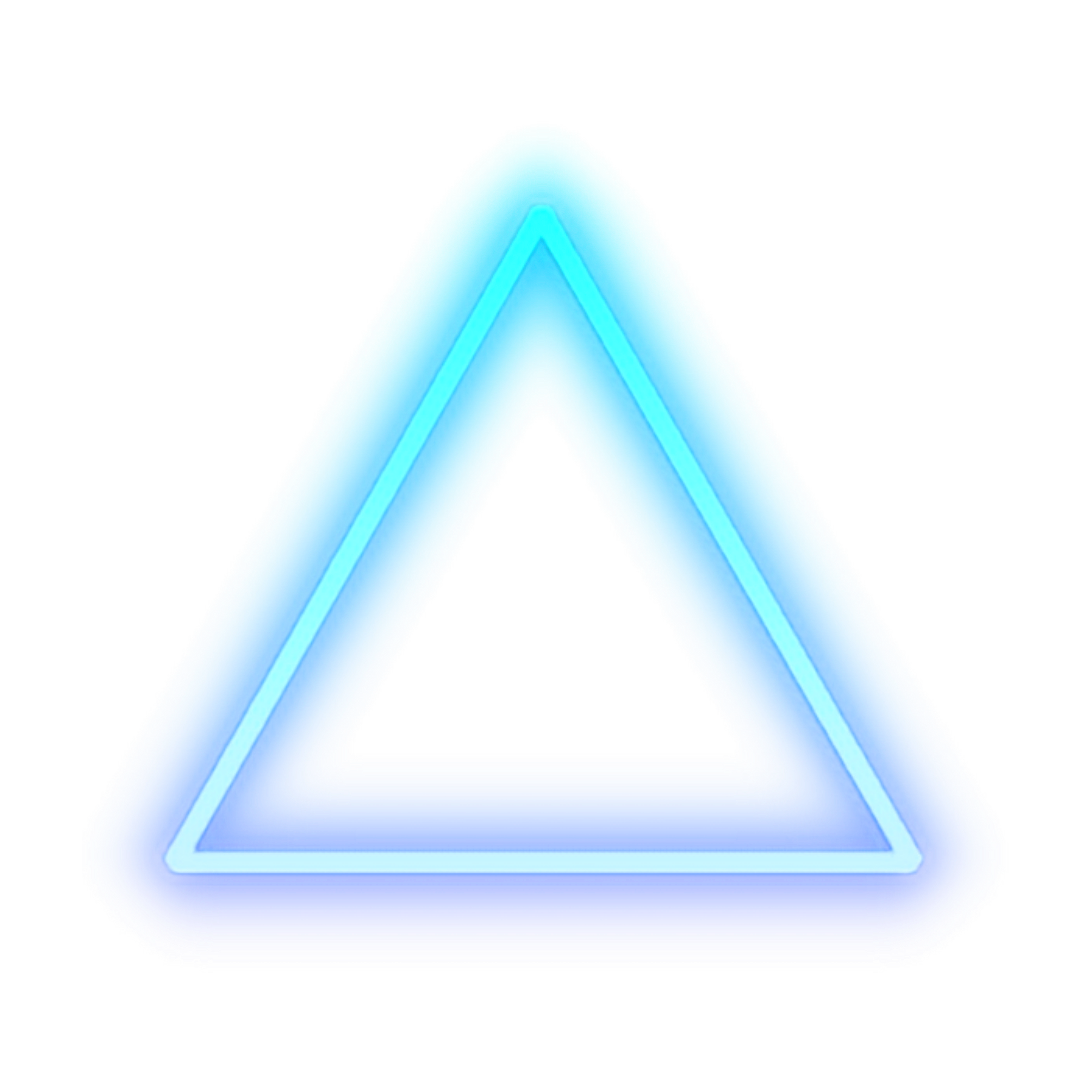 Triangle Light Sticker Neon Sign Human Detroit: PNG Image