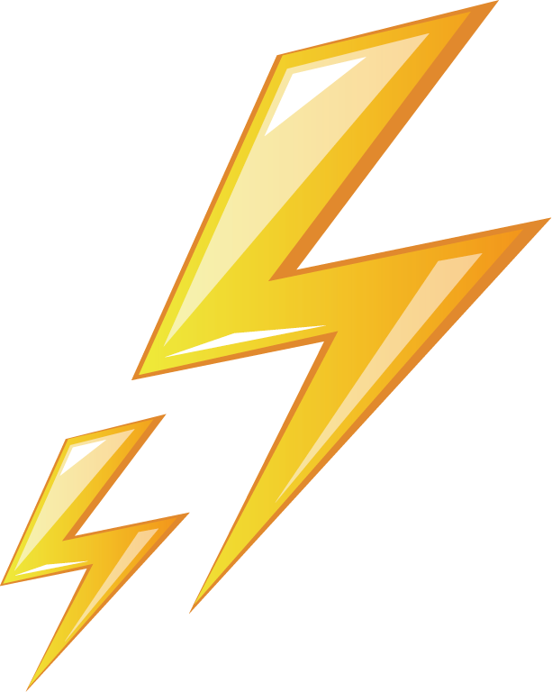 Electricity Logo Text Triangle Lightning Free Clipart HD PNG Image