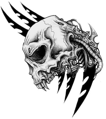Tribal Skull Tattoos Transparent PNG Image
