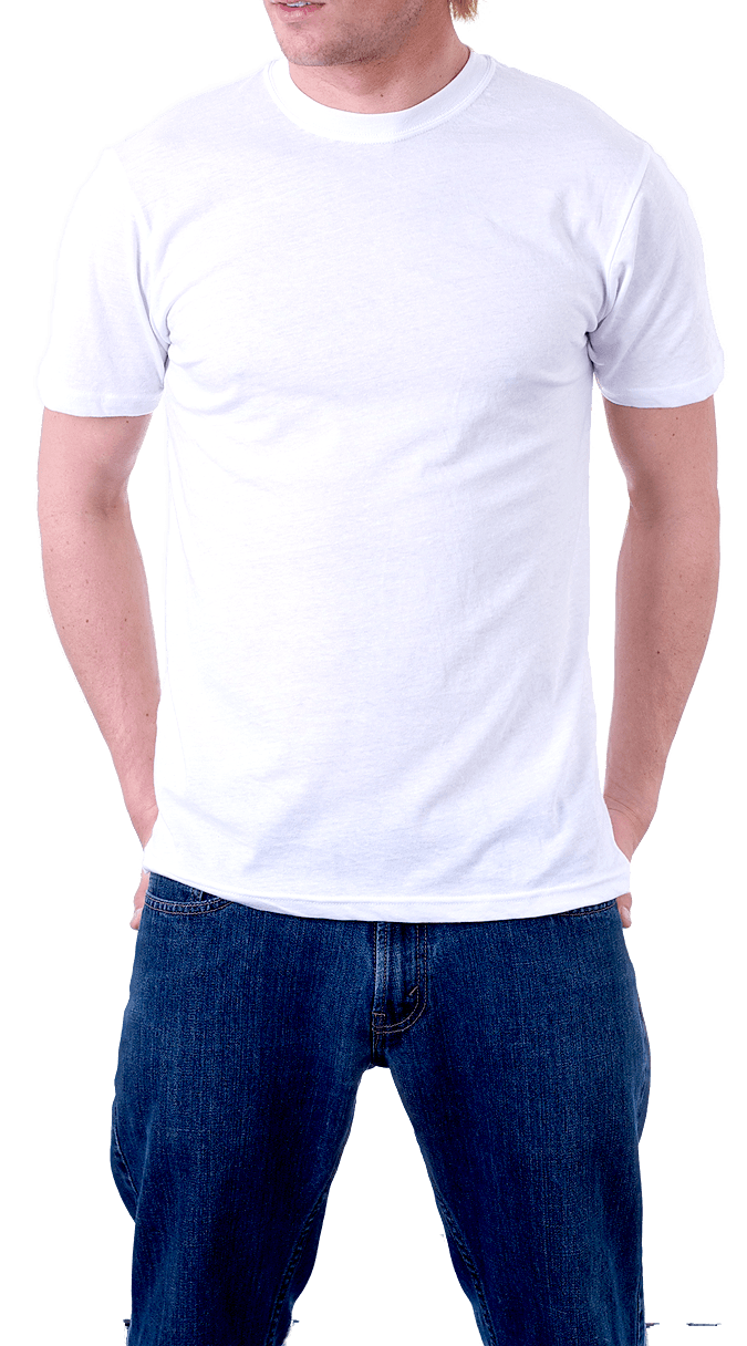 Man In White T-Shirt Png Image PNG Image