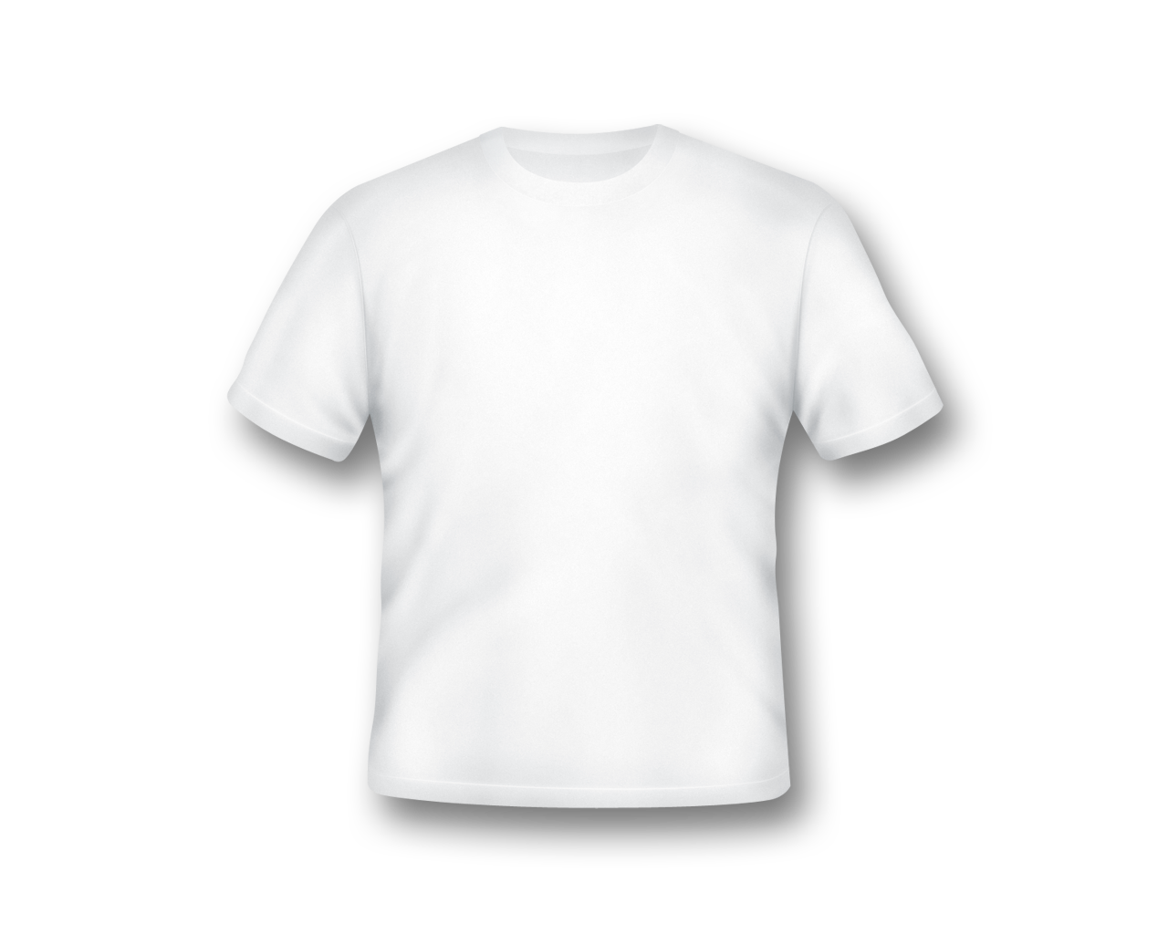 Blank White T-Shirt Template PNG Image