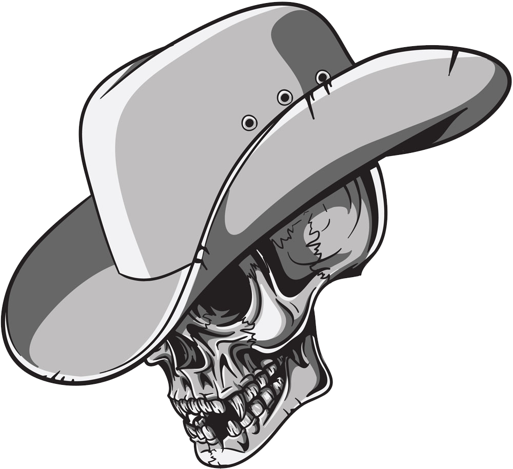 T-Shirt Hat Skull Cowboy Free Download PNG HQ PNG Image
