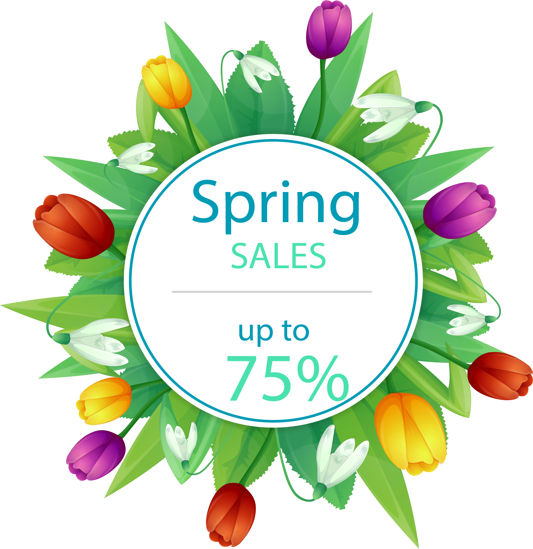And Tulip Material Discounts Multicolor Discount Allowances PNG Image