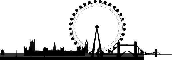 London Eye Clipart PNG Image