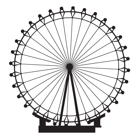 London Eye Transparent PNG Image