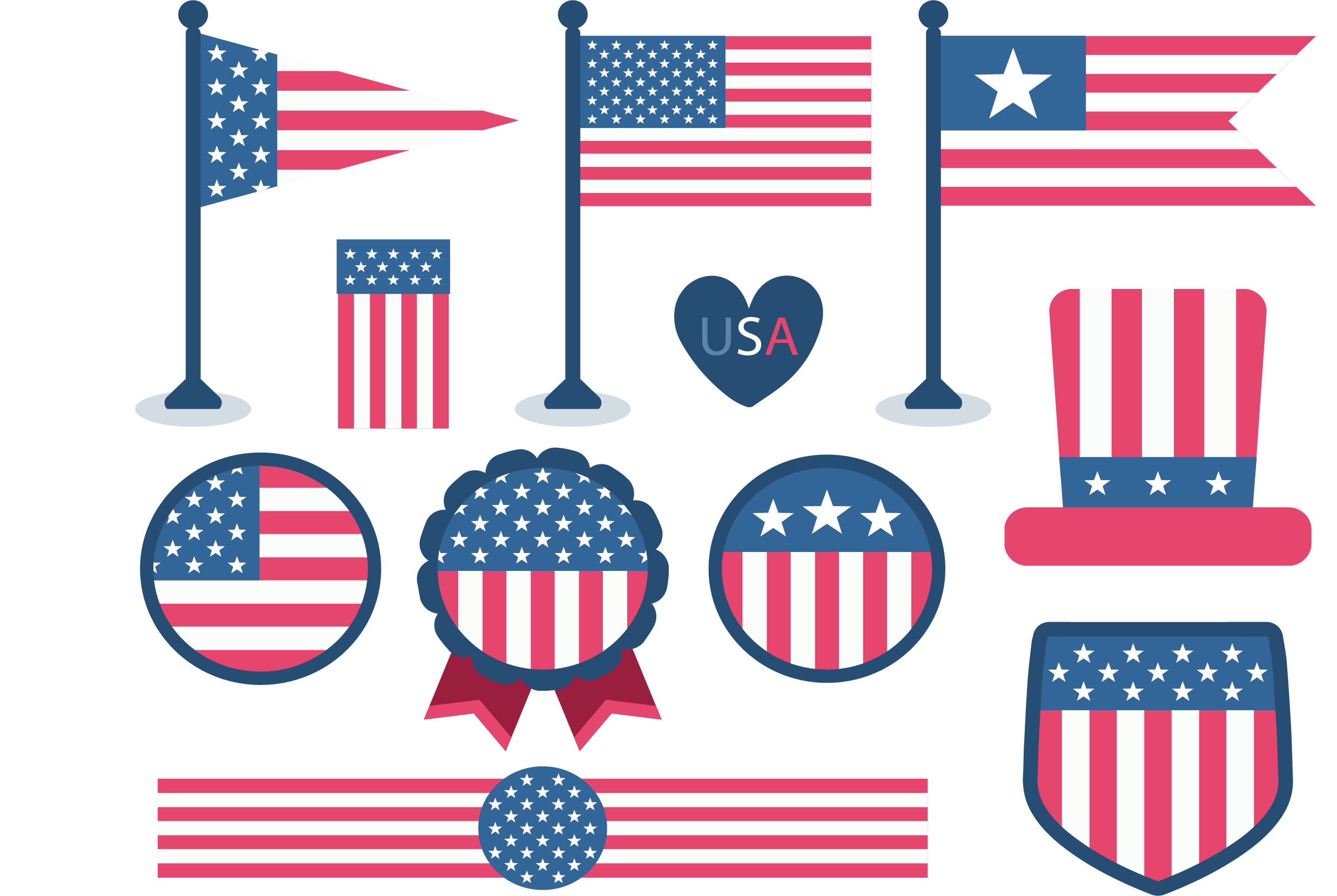 United Of States Flag Starbucks The Badge PNG Image