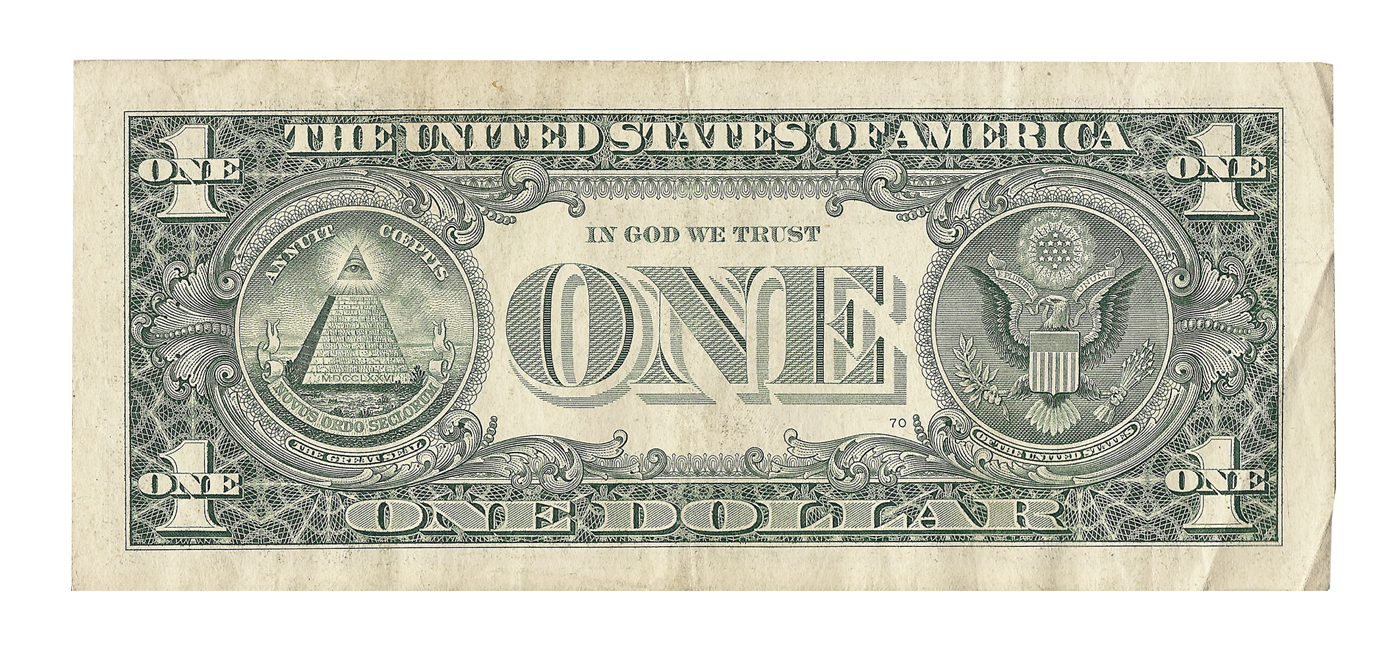 Note United Banknote Federal Bill Dollar One-Dollar PNG Image
