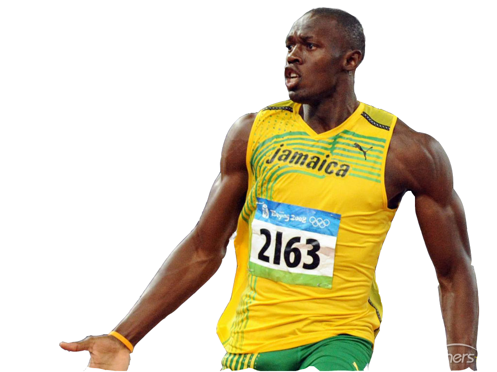 Usain Bolt Clipart PNG Image