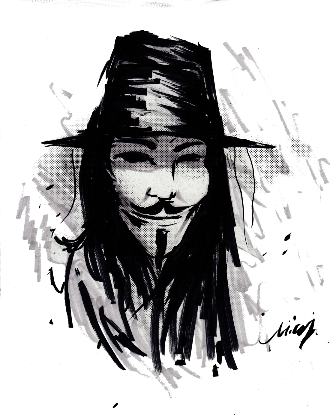 V For Vendetta PNG Image