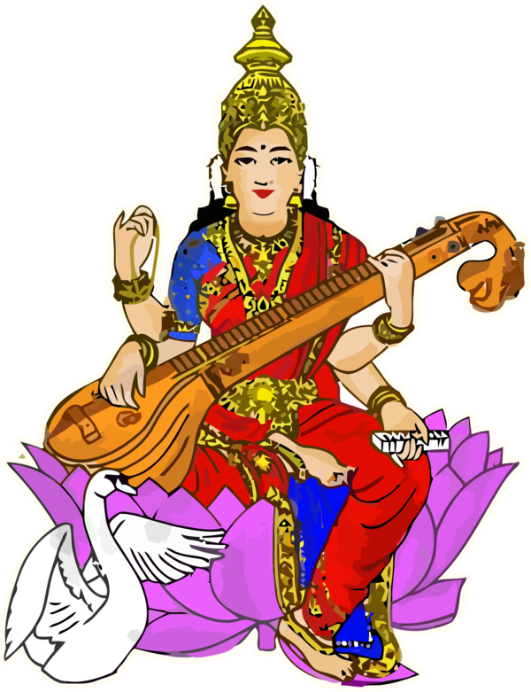 Vasant Panchami Musical Instrument String Plucked Instruments For Happy Activities PNG Image