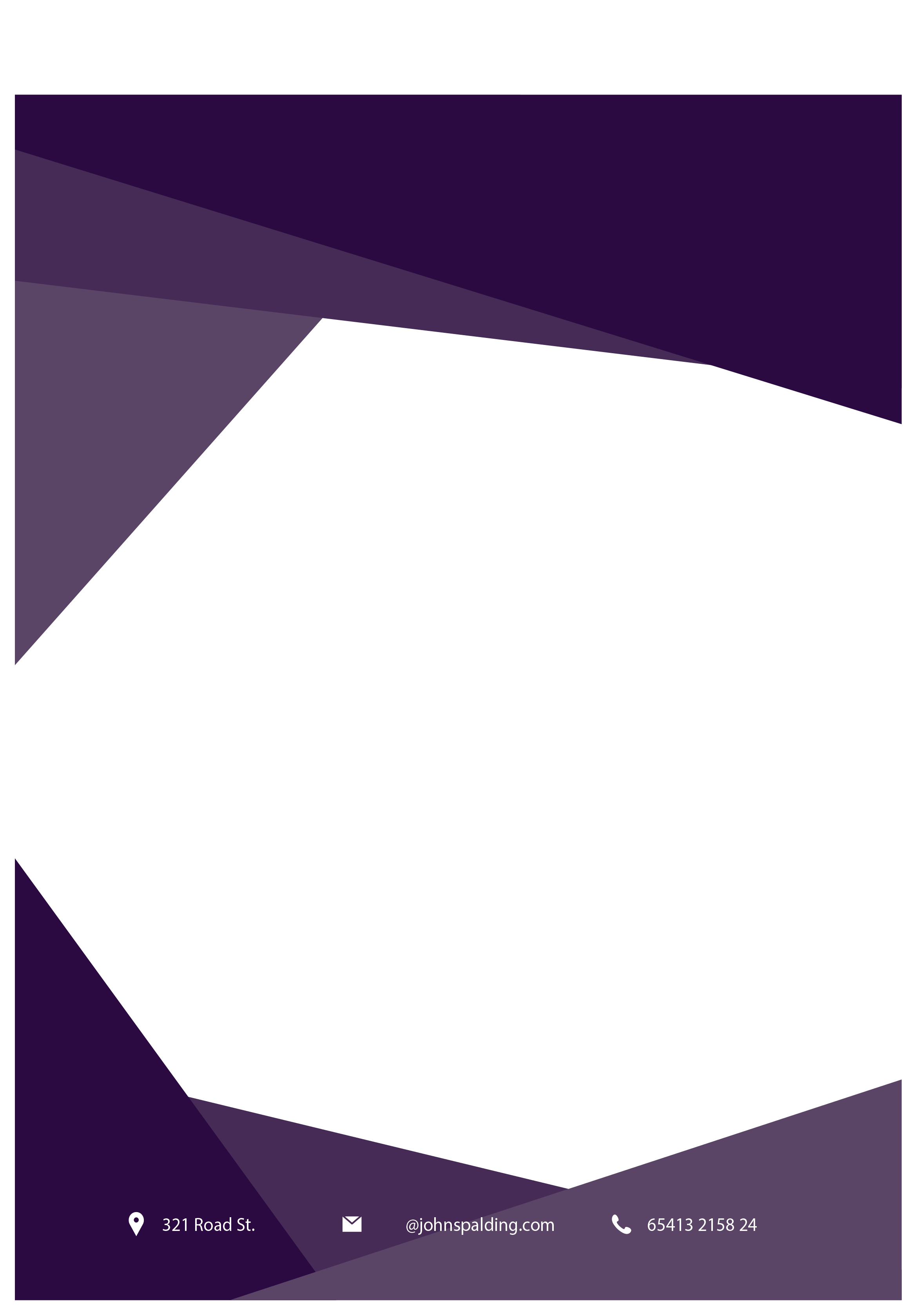 Purple Paper Border Business Flyer Free Clipart HD PNG Image