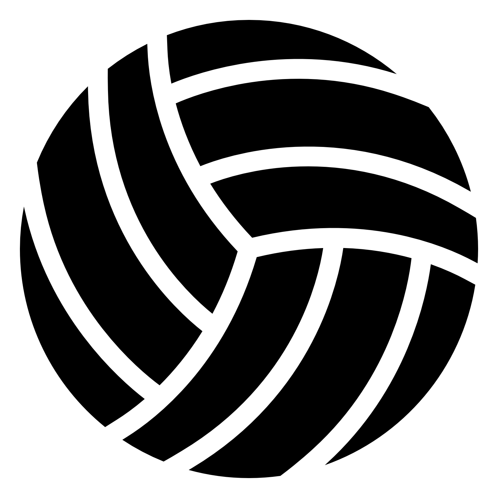 Logo Sport Volleyball Download HD PNG PNG Image