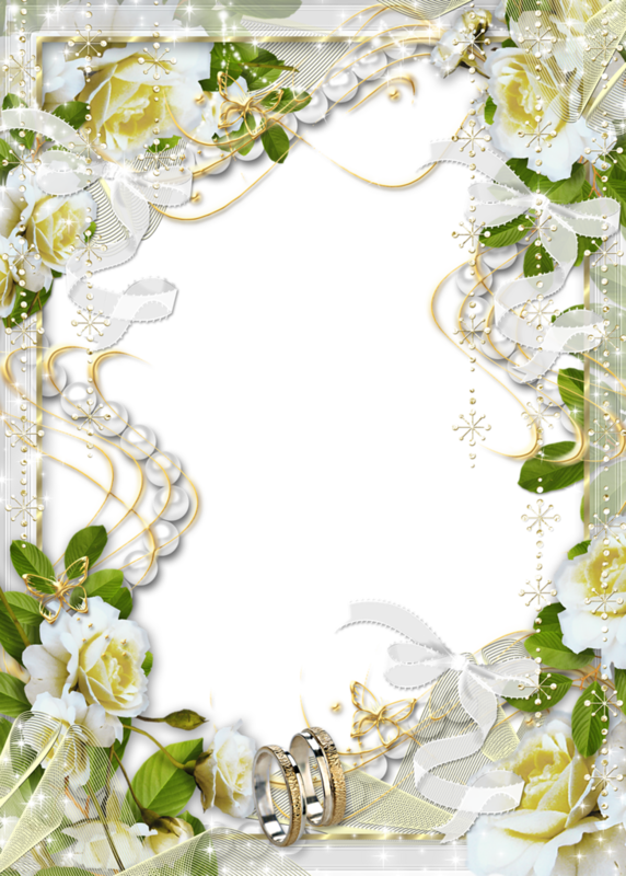 Picture Frame Flower White Wedding Free Transparent Image HQ PNG Image