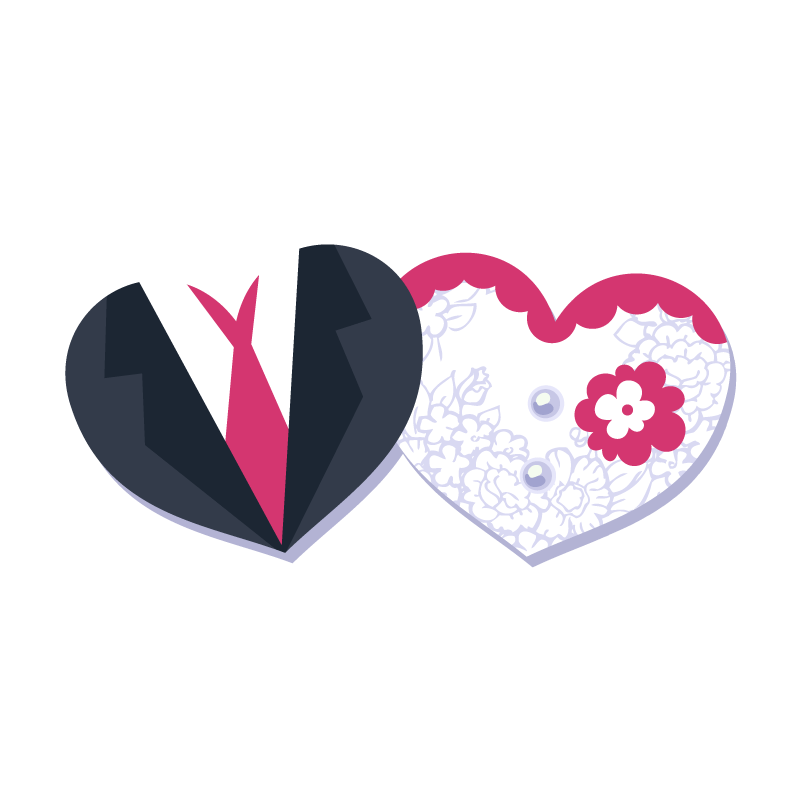 And Wedding Groom,Vector,Decorative Heart-Shaped,Bride Template Invitation PNG Image
