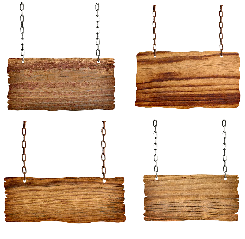 Picture Wooden Shutterstock Signs Sign Hanging Chains PNG Image