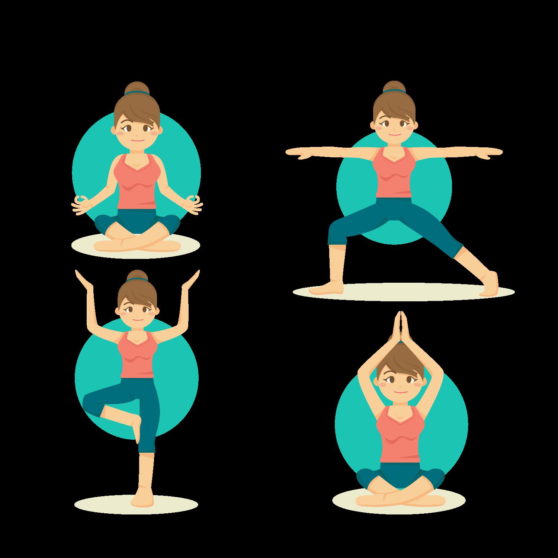 Download Vector Flat Woman Yoga Vinyasa Material Illustration Hq Png Image Freepngimg