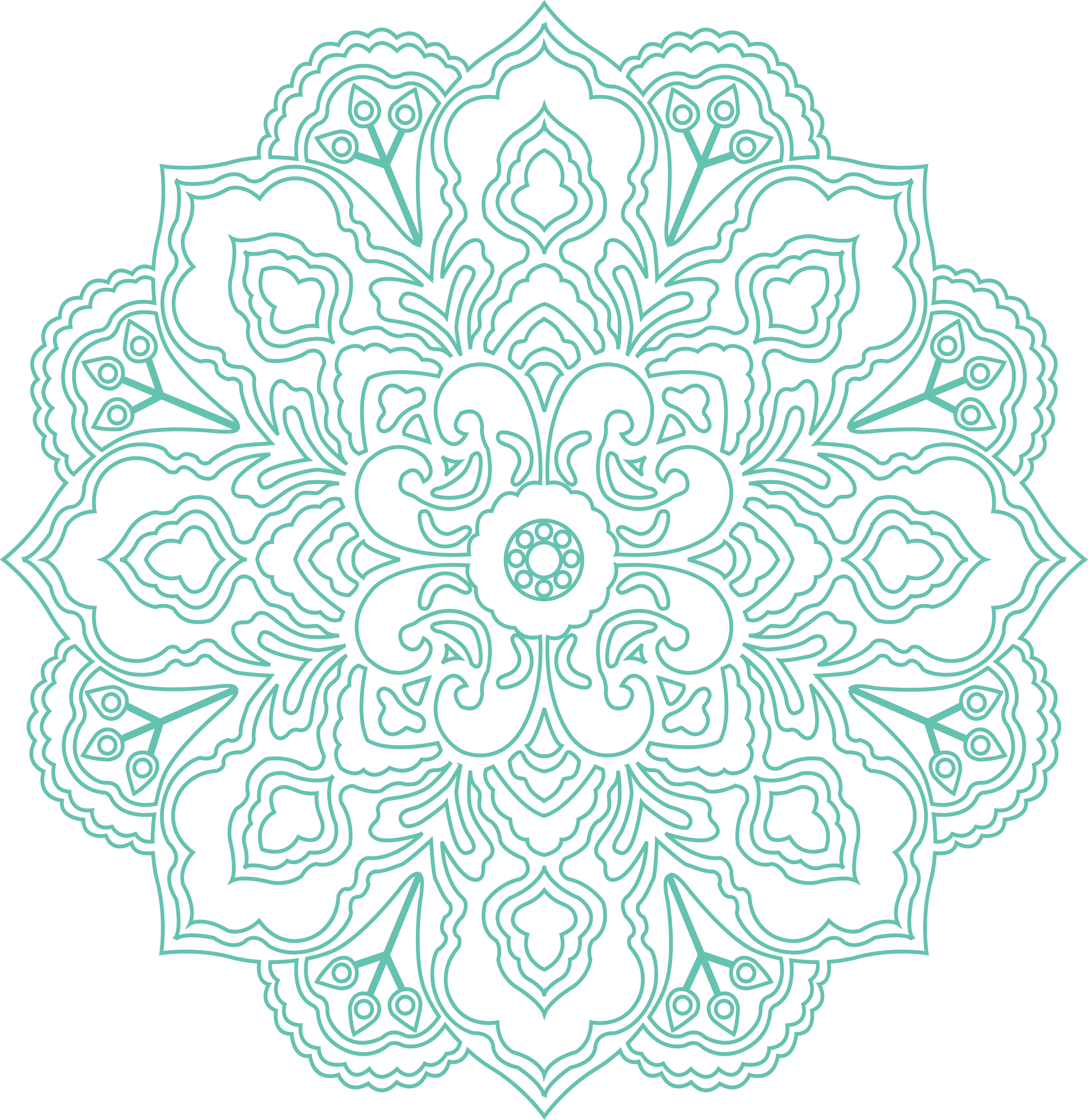 Yoga Patterns Pattern Peppermint Euclidean Vector Green PNG Image