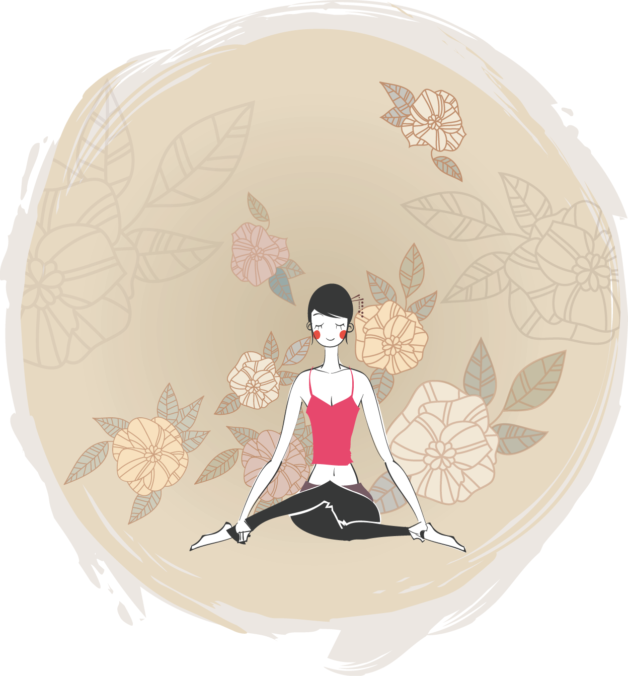 Yoga Illustration Dona Vector Graphics Cartoon PNG Image
